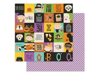 scrapbooking & paper crafts: Simple Stories Collection Say Cheese Halloween Paper 12 in. x 12 in. Elements 2 in. x 2 in. (25 pieces)