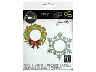 Sizzix Dies Tim Holtz Thinlits Wreath & Snowflake