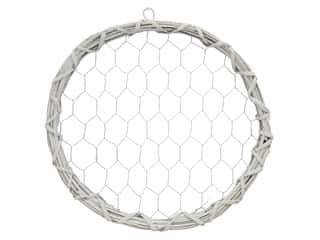 Midwest Design Chicken Wire Wreath 11.75 in. White