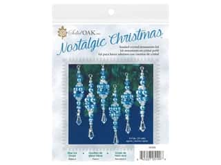 Solid Oak Kit Beaded Ornament Blue Ice Drops