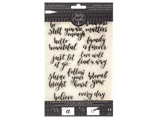 American Crafts Collection Kelly Creates Stamp Traceable Bouncy Inspirational
