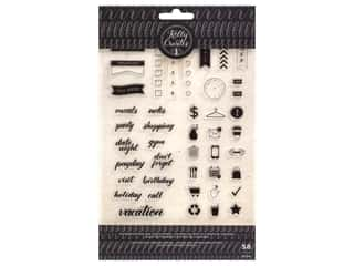 American Crafts Collection Kelly Creates Stamp Planner Words And Icons