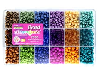 beading & jewelry making supplies: The Beadery Kit Bead Extravaganza Box Mardi Gras Mix