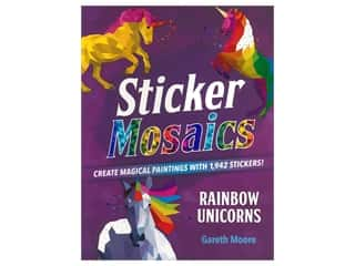books & patterns: Castle Point Sticker Mosaics Rainbow Unicorn Book