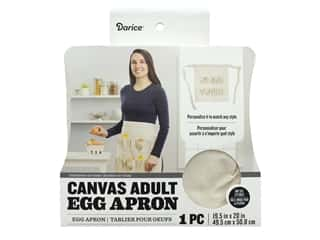 Darice Canvas Egg Apron 19 1/2 x 20 in.