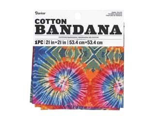 craft & hobbies: Darice Bandana 21 x 21 in. Swirl Tie Dye
