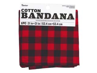 books & patterns: Darice Bandana 21 x 21 in. Buffalo Check Red Black