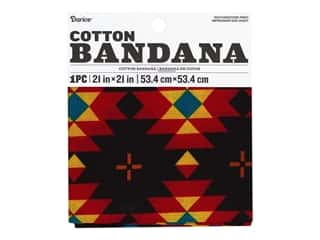 craft & hobbies: Darice Bandana 21 x 21 in. Southwestern Print