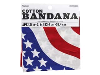 craft & hobbies: Darice Bandana 21 x 21 in. Stars & Stripes