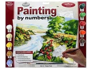 projects & kits: Royal Paint By Number Adult Large Poppy Field