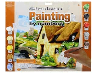 projects & kits: Royal Paint By Number Adult Large Cottage By The River