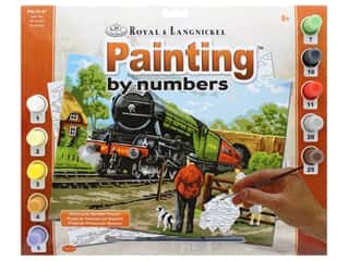 craft & hobbies: Royal Paint By Number Adult Large Steam Train