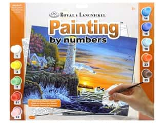 projects & kits: Royal Paint By Number Adult Large Waterside Lighthouse