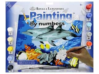 craft & hobbies: Royal Paint By Number Junior Large Dolphins