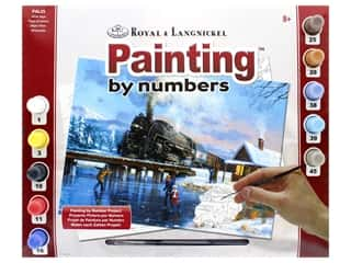 acrylic paint: Royal Paint By Number Adult Large Winter Magic