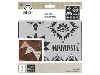 Plaid Stencil Folkart 6 in. x 6 in. Namaste