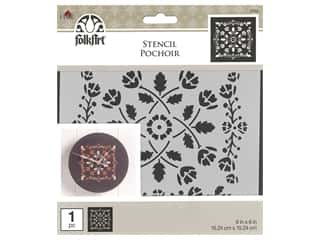 craft & hobbies: Plaid Stencil Folkart 6 in. x 6 in. Folk Art