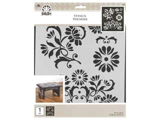 Plaid Stencil Folkart 8.5 in. x 9.5 in. Arts & Crafts Decor