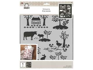 Plaid Stencil Folkart 8.5 in. x 9.5 in. Modern Toile