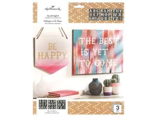 craft & hobbies: Plaid Hallmark Handcrafted Adhesive Stencils 8 1/2 x 9 1/2 in. Enchanting Font