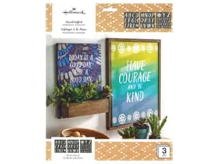 Plaid Hallmark Handcrafted Adhesive Stencils 8 1/2 x 9 1/2 in. Texture Font