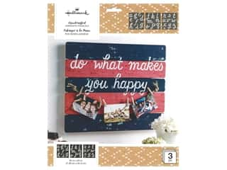 craft & hobbies: Plaid Hallmark Handcrafted Adhesive Stencils 8 1/2 x 9 1/2 in. Happy Script Font