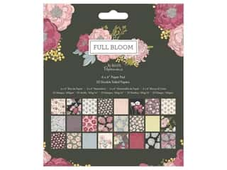 "Docrafts Papermania Paper Pad 6""x 6"" Full Bloom"