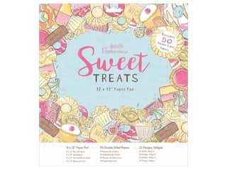 "Docrafts Papermania Paper Pad 12""x 12"" Sweet Treats"