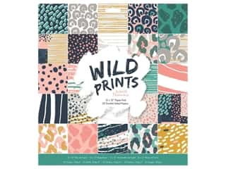"Docrafts Papermania Paper Pad 12""x 12"" Wild Prints"
