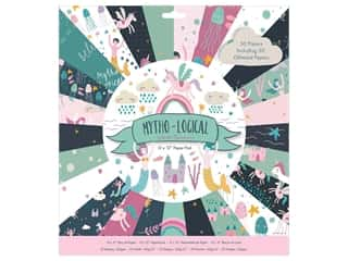 "Docrafts Papermania Paper Pad 12""x 12"" Mytho-Logical"