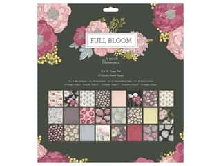 "designer paper: Docrafts Papermania Paper Pad 12""x 12"" Full Bloom"