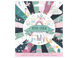 "Docrafts Papermania Paper Pad 6""x 6"" Mytho-Logical"