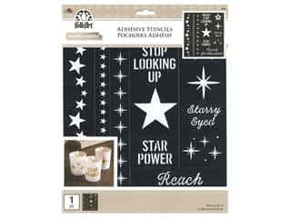 craft & hobbies: Plaid Folkart Adhesive Stencils - Stars