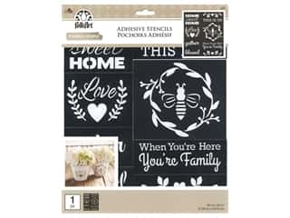 Plaid Folkart Adhesive Stencils - Farmhouse Family