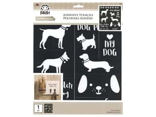 craft & hobbies: Plaid Stencil Folkart Adhesive 8.5 in. x 9.5 in. Dogs
