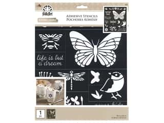 Plaid Folkart Adhesive Stencils - Birds, Bees & More