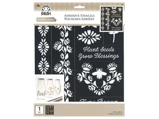 craft & hobbies: Plaid Folkart Adhesive Stencils - Folk Garden