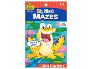 books & patterns: School Zone Little Busy Book My First Mazes Book