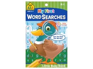 books & patterns: School Zone Little Busy Book My First Word Searches Book