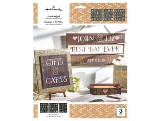 craft & hobbies: Plaid Hallmark Handcrafted Adhesive Stencils 8 1/2 x 9 1/2 in. Elegancia Font