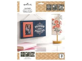 craft & hobbies: Plaid Hallmark Handcrafted Adhesive Stencils Design Pack - Enchanting
