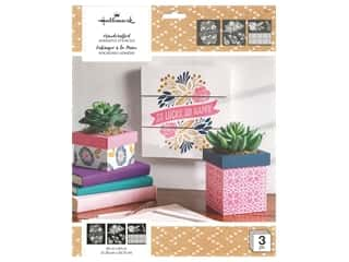 craft & hobbies: Plaid Hallmark Handcrafted Adhesive Stencils Design Pack - So Happy