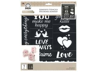 craft & hobbies: Plaid Stencil Folkart Adhesive 8.5 in. x 9.5 in. Romance