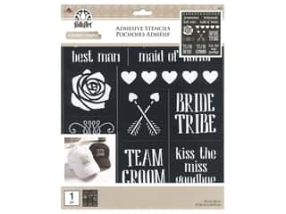 craft & hobbies: Plaid Folkart Adhesive Stencils - Bride Tribe