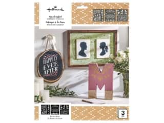 craft & hobbies: Plaid Hallmark Handcrafted Adhesive Stencils Design Pack - Elegancia
