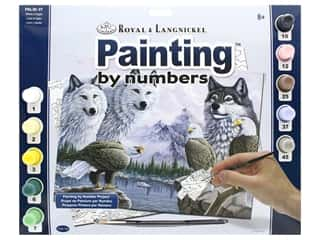 craft & hobbies: Royal Paint By Number Kit Large Wolves