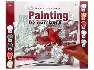 craft & hobbies: Royal Paint By Number Kit Large Cardinals