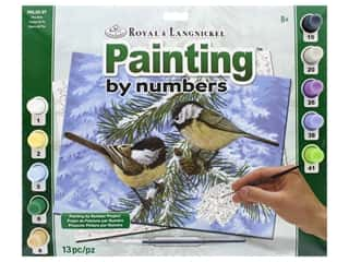 acrylic paint: Royal Paint By Number Adult Large Pine Birds