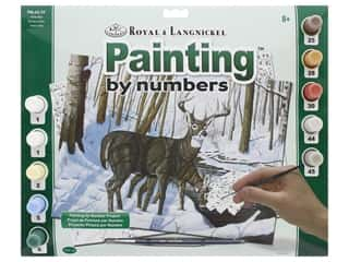 acrylic paint: Royal Paint By Number Kit Large Winter Bliss