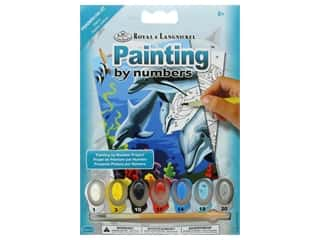craft & hobbies: Royal Paint By Number Kit Mini Dolphins